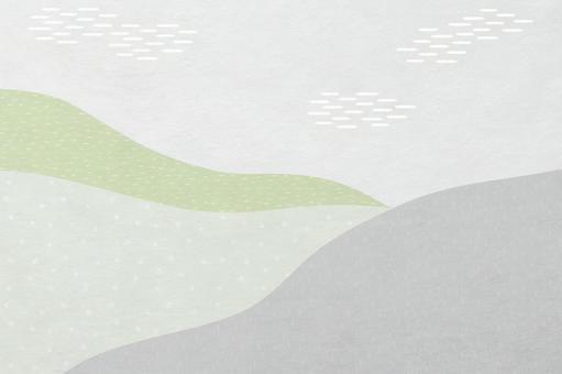 山景中現代日本紙的背景材料_白綠日式花紋紋理
