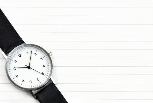 Texture of analog clock lower left arrangement