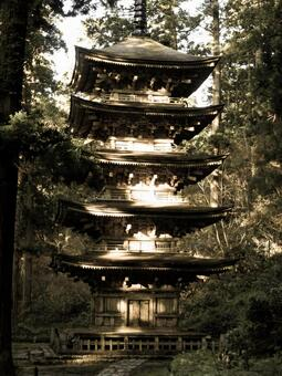 Haguroyama的五重塔