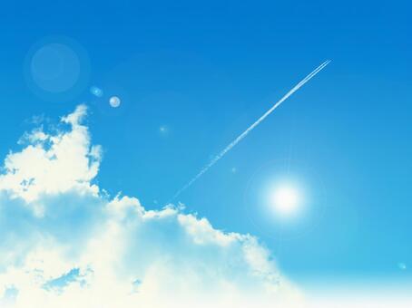 Blue sky 015-contrail