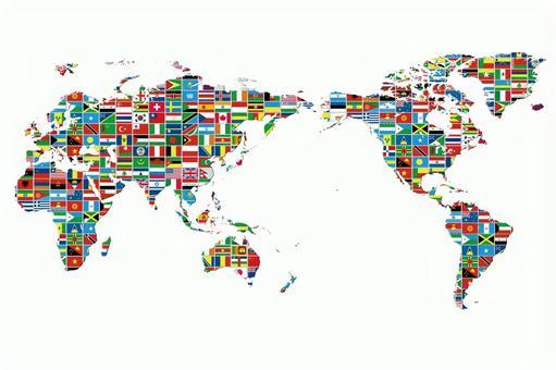 World map 3 National flag