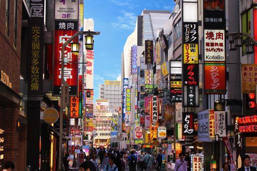 Shinjuku and Kabukicho in the busy daytime