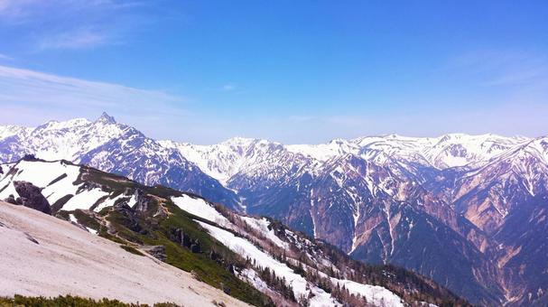 Northern Alps 10 seen from Mt. Tsubame