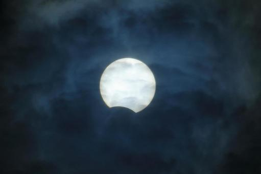 Partial solar eclipse 2020, Hokkaido with shading filter