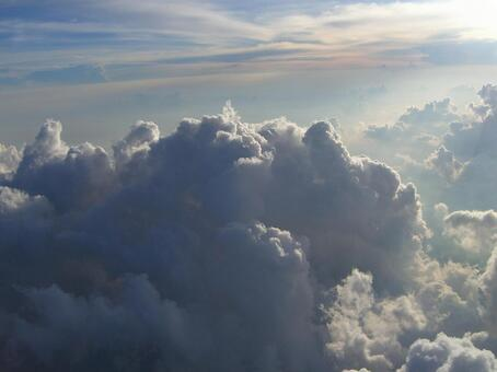 Aerial view of clouds 009