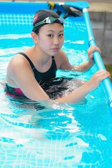 Girl swimmer
