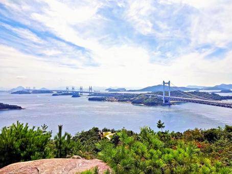Superb view of the Seto Ohashi bridge 1