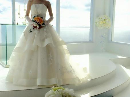 Wedding ceremony with a chapel with sea view
