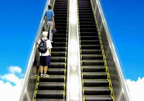 自動扶梯到天堂