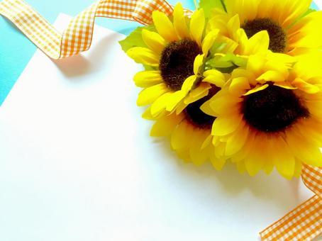 Sunflower bouquet background (orange x blue)