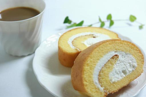 Roll Cake Suites Sponge Cake Dessert Coffee