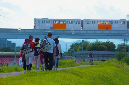 타마 모노레일있는 풍경 1