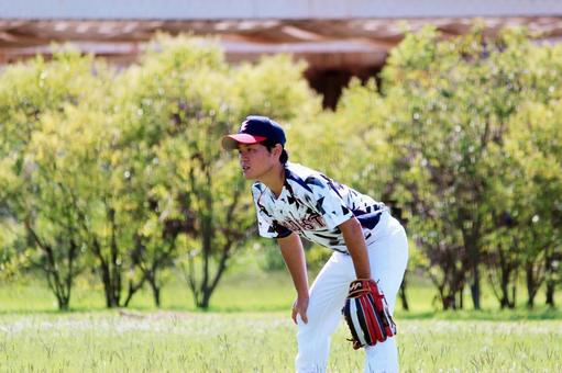 Character, male, grass ball