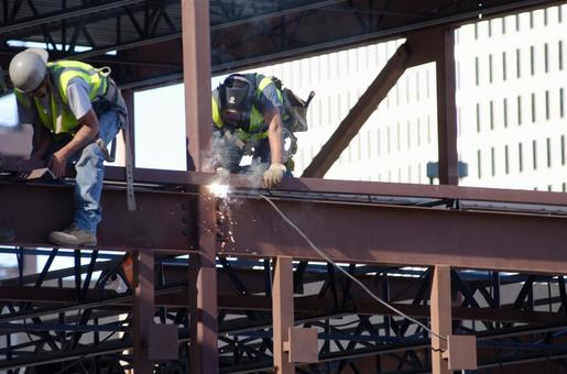 Worker performing construction work 3