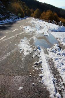 早期的冬季道路