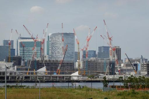Harumi flag under construction