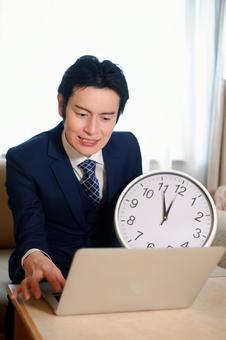 Clock and Hotel Man 1