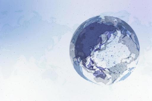 파란 디지털 네트워크 이미지 흰색 배경