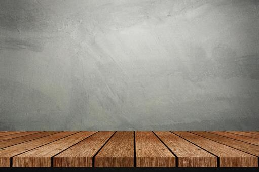 Wood plank and stucco wall background image