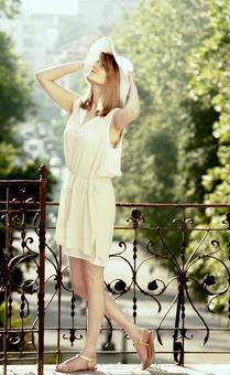 흰색 밀짚 모자 여성 28