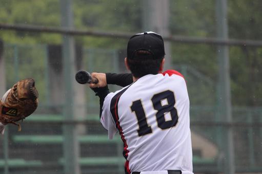 Male person baseball sports full power