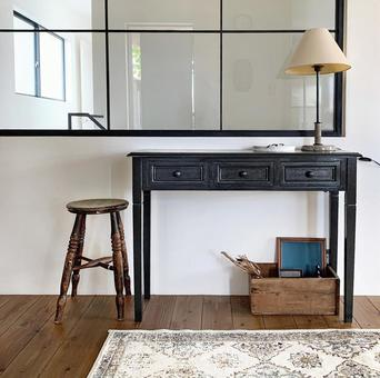 Interior with console table and interior windows