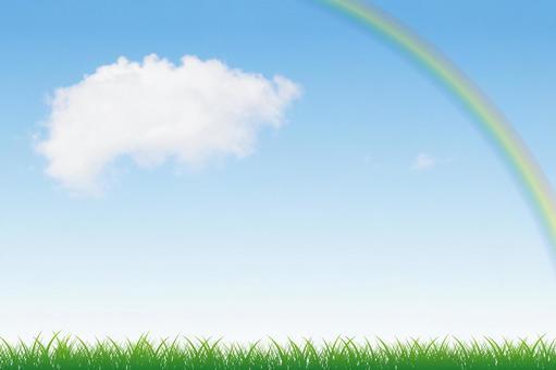 푸른 하늘과 초원 그리고 무지개 09