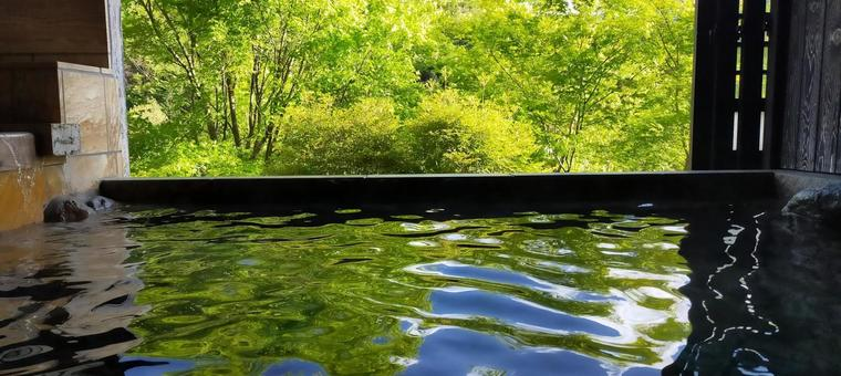 Private bath hot spring