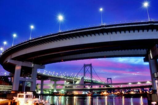 Morning glow of Tokyo Bay