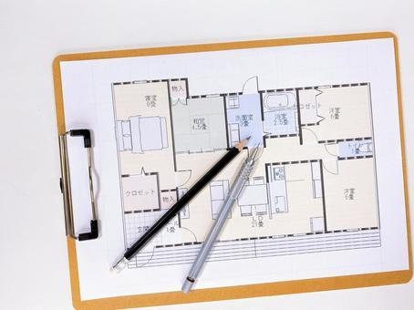House design floor plan bird's-eye view