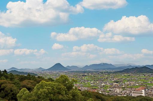 카가와 현 산에서 讃岐平野을 일망