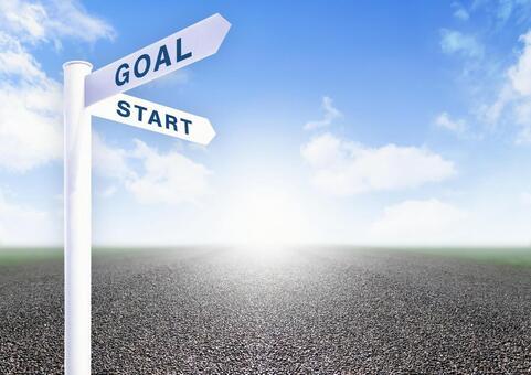 Start and finish signpost