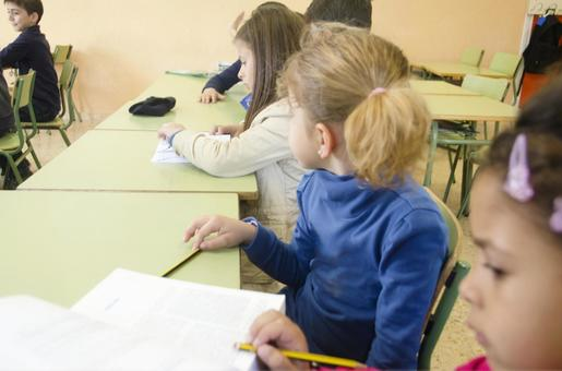 Children studying in the classroom 15