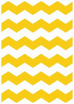 Scandinavian design zigzag Yellow