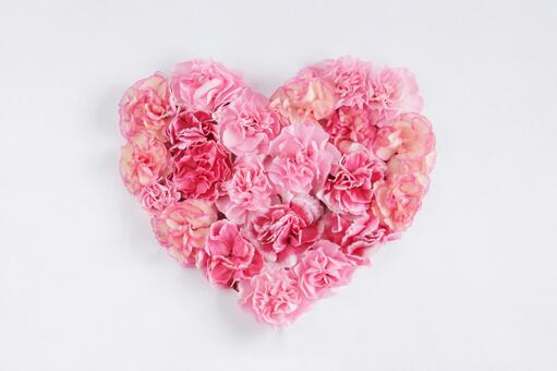 Carnation heart (pink mix)