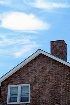 Triangular roof and sky