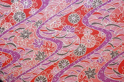 Japanese paper (chrysanthemum and autumn leaves)