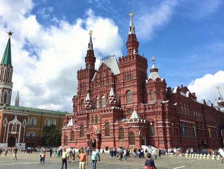 역사 박물관, 붉은 광장, 모스크바, 러시아.