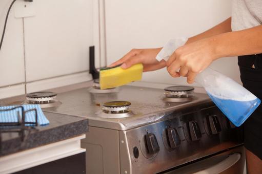 Cleaning Kitchen Around 8