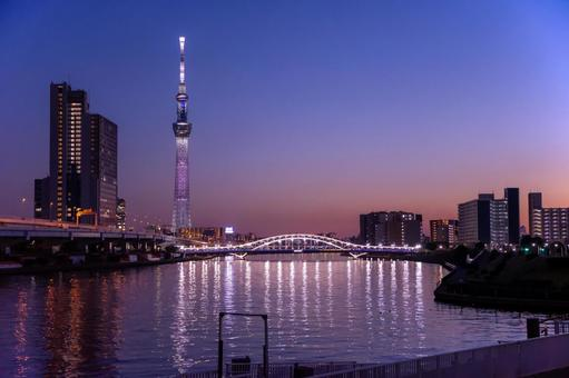 Sumida River evening view