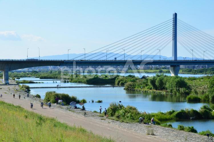 淀川河川敷1の写真