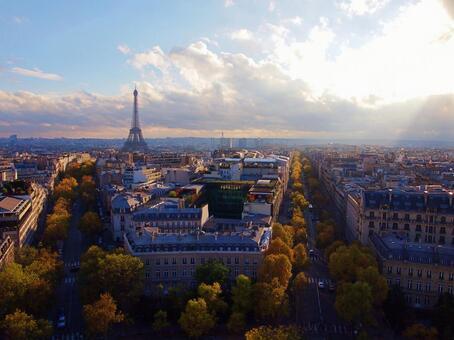 巴黎從天空的景色