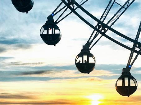 Memories of people watching the sunset from the Ferris wheel