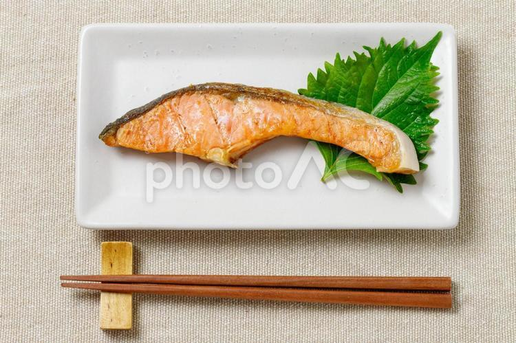 銀鮭塩焼きの写真