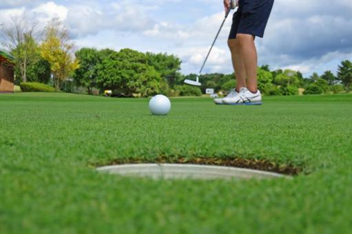 Practice golf course putter