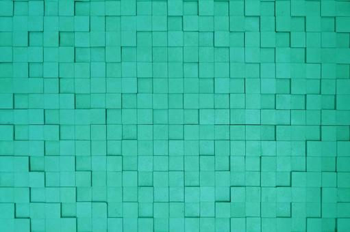 Green cube background