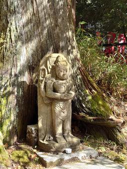 前往金心寺的佛像