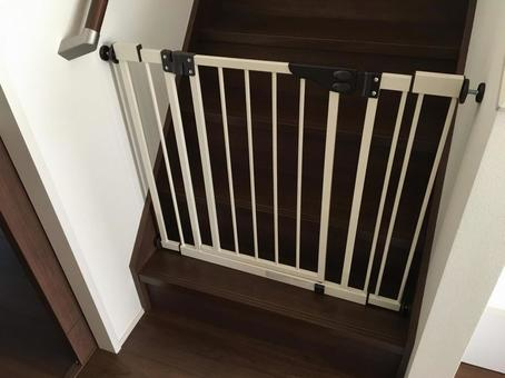 Install a baby gate on the stairs