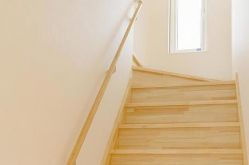 Stairs of a newly built house