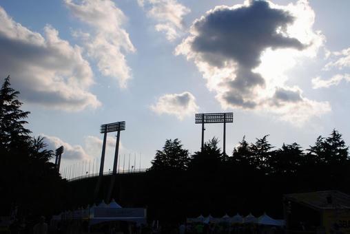 National stadium silhouette